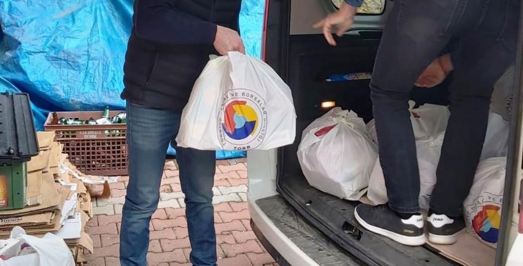 Tunceli TSO'dan 600 aileye gıda yardımı